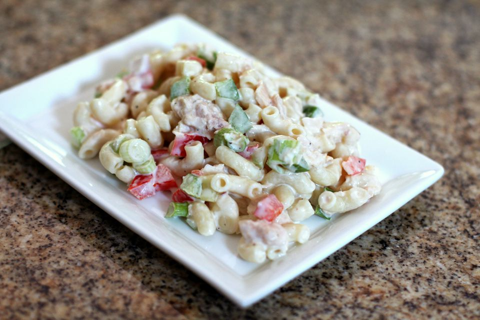 30 minute tuna macaroni salad recipe for Macaroni salad with tuna fish