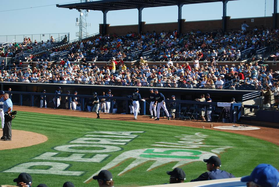 A Sunny March Day at Peoria Stadium
