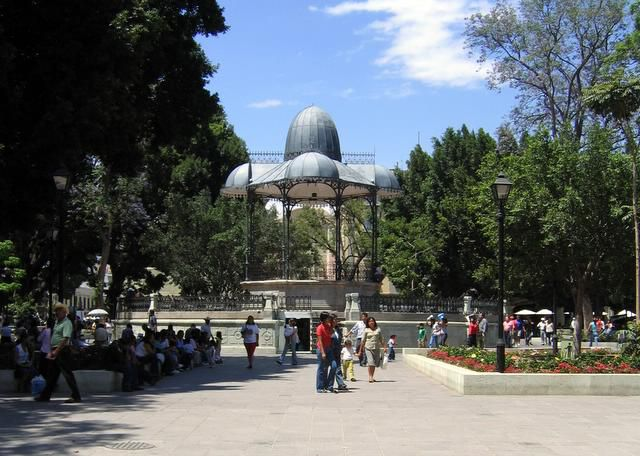 The Zocalo in Oaxaca City