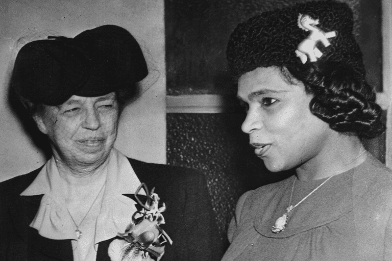 Marian Anderson and Eleanor Roosevelt