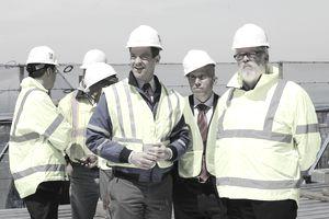 Construction project management team