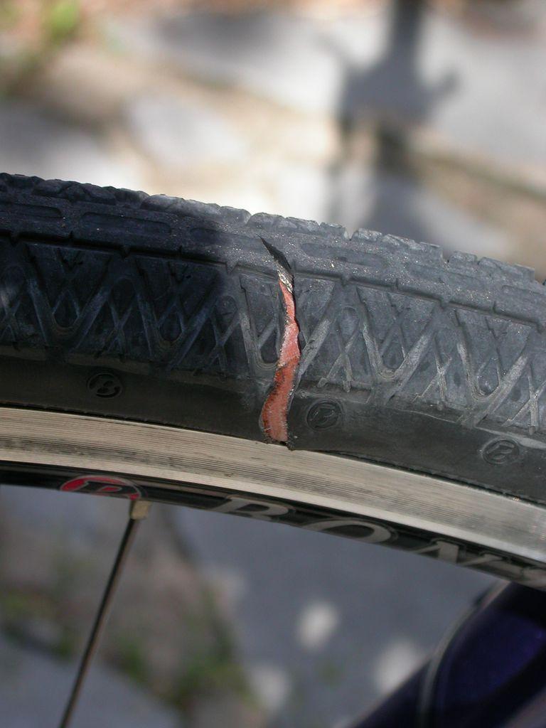 sidewall gash bike tire