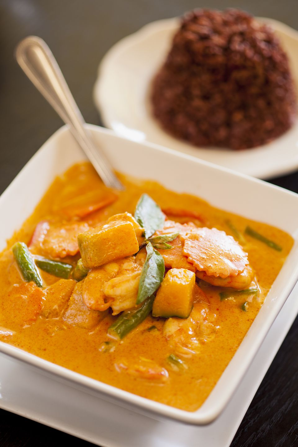 Thai pumpkin curry with red rice