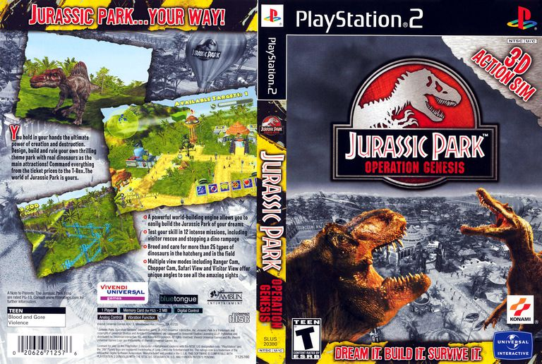Jurassic Park: Operation Genesis (PS2)