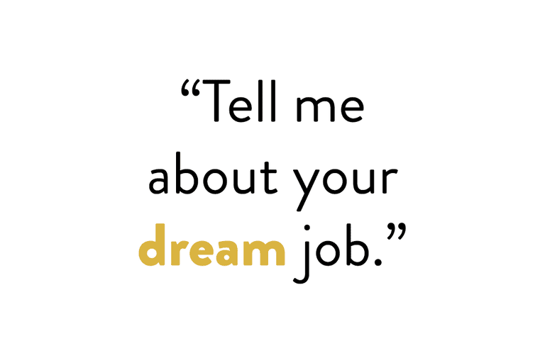 tell me about your dream job - Your Dream Job Tell Me About Your Dream Job