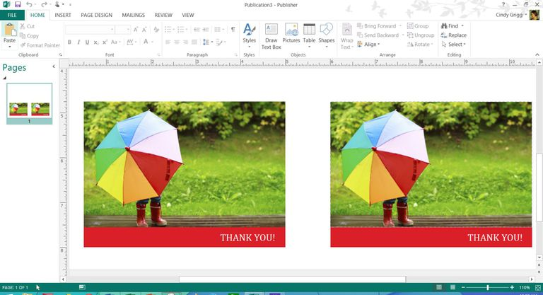 Mothers day templates for microsoft office colorful rainbow umbrella thank you card template for microsoft publisher yelopaper Choice Image
