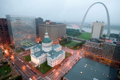 Gateway Arch in Downtown St. Louis