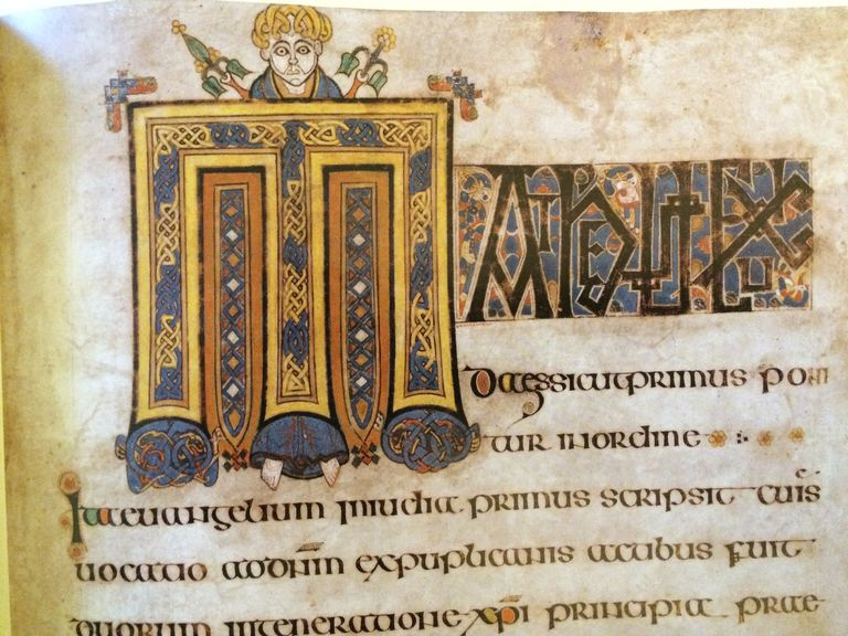 Book of Kells, 8th C Irish manuscript