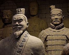 The terracotta warriors and horses were made to serve the emperor in the afterlife.