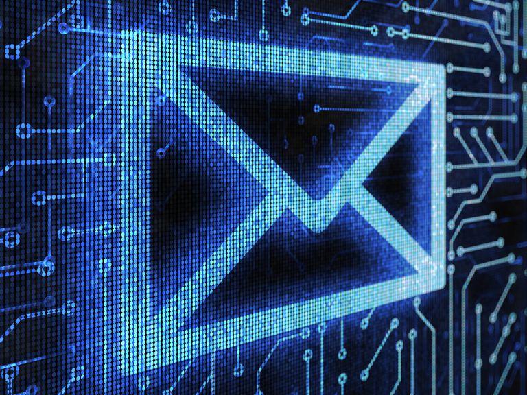 Blue email logo