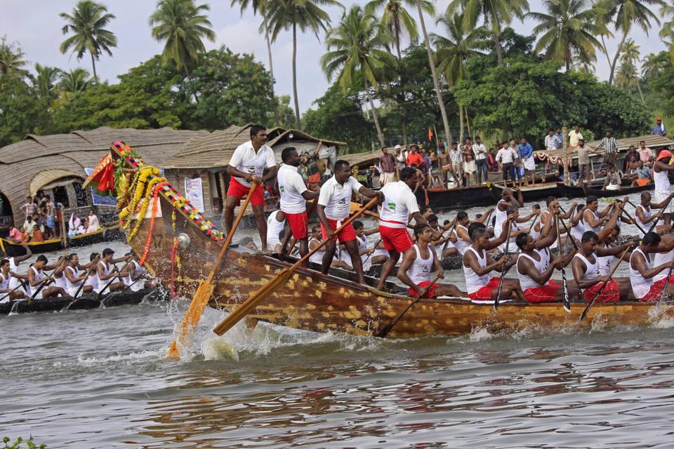 Snake boat race in Kerala.