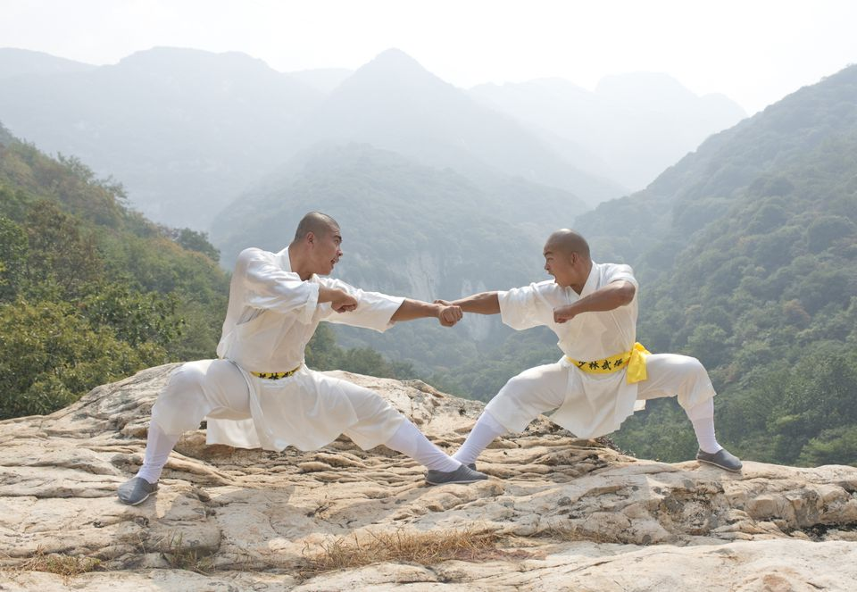 Shaolin monks at Mt. Song