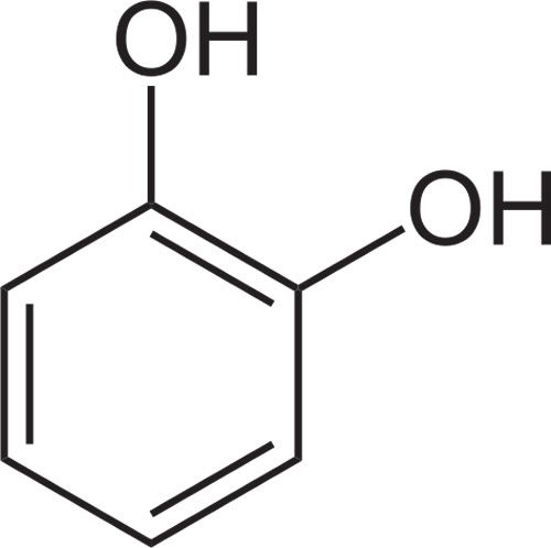 This is the chemical structure of catechol.