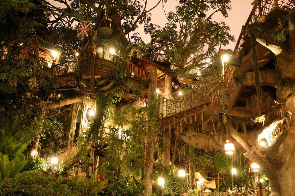 Tarzan's Treehouse at Night