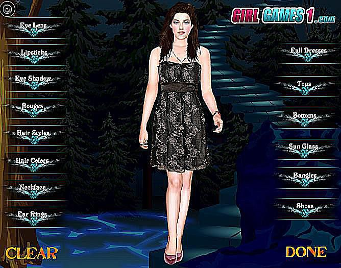 Free Twilight Dress Up Games - Games for hairstyle and dress up