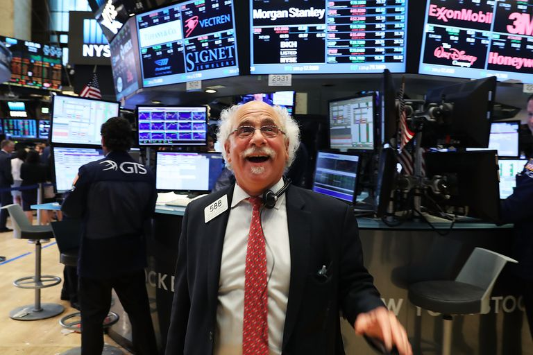 trader reacting to Dow Jones Highs