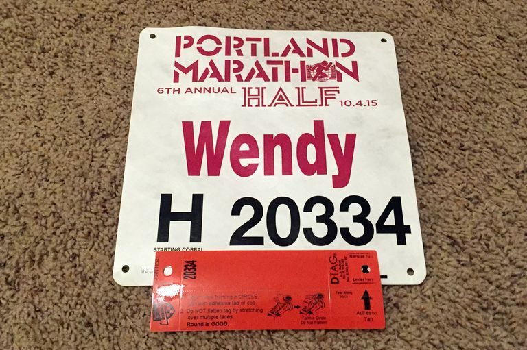 Race Bib and Timing Chip Shoe Tag