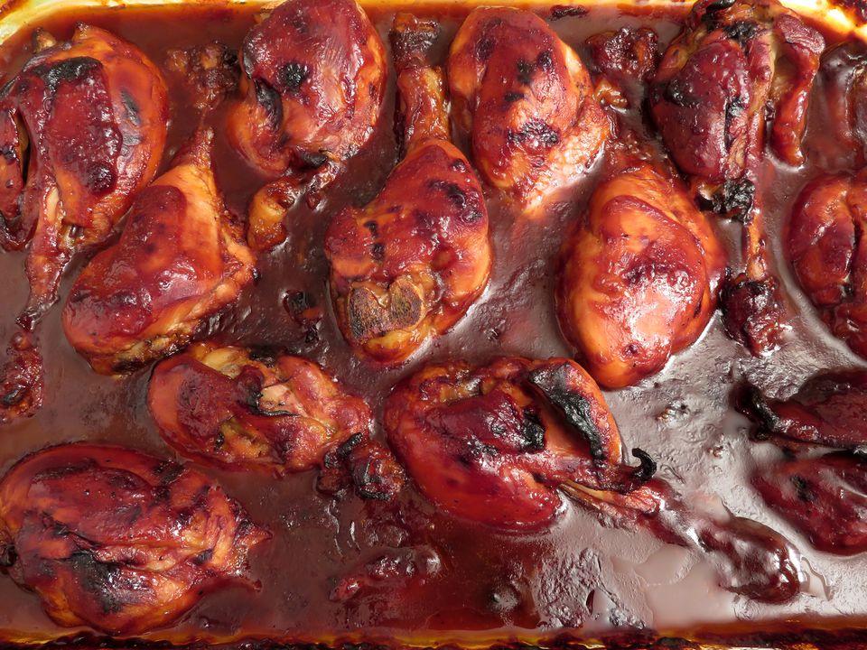 Baked Barbecue Chicken Drumsticks