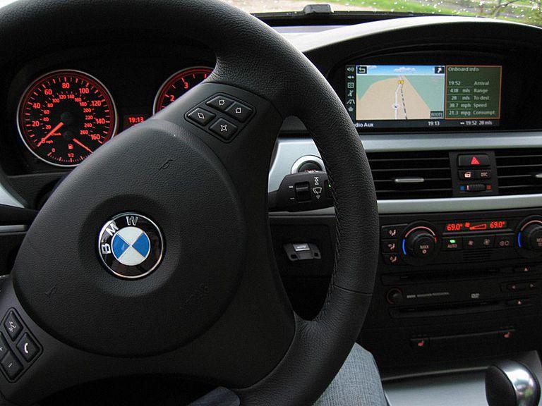 BMW cockpit featuring iDrive