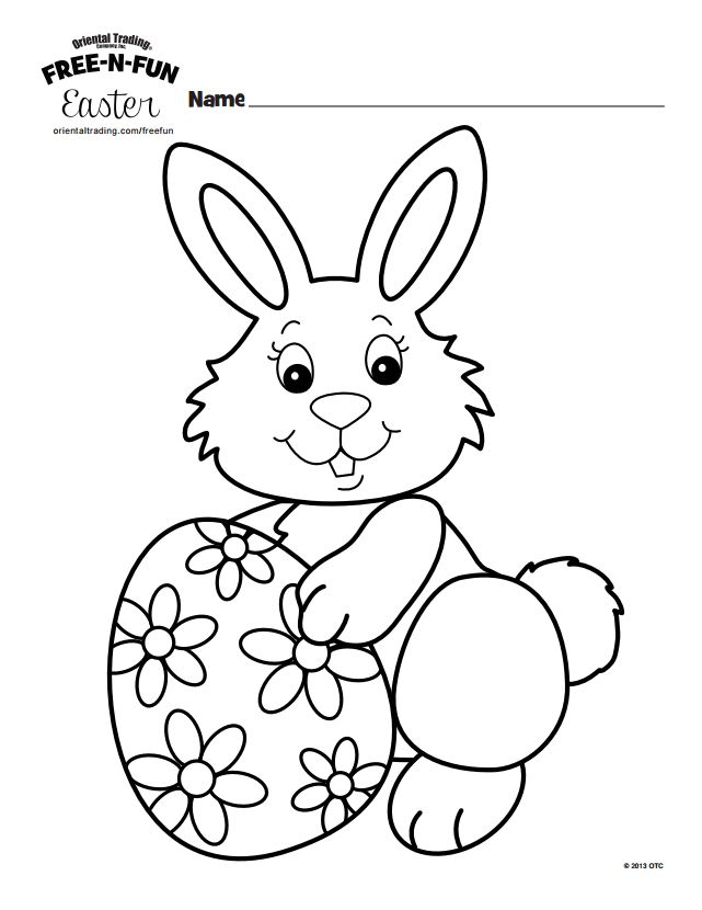 231 Free, Printable Easter Bunny Coloring Pages