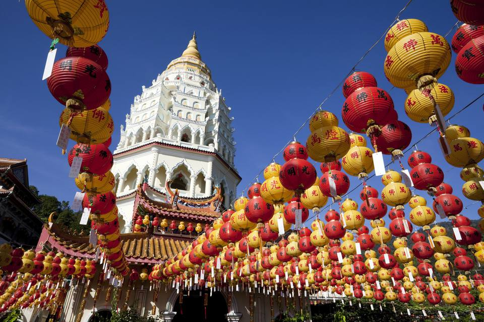 Kek Lok Si's 10,000 Buddha Pagoda during Chinese New Year