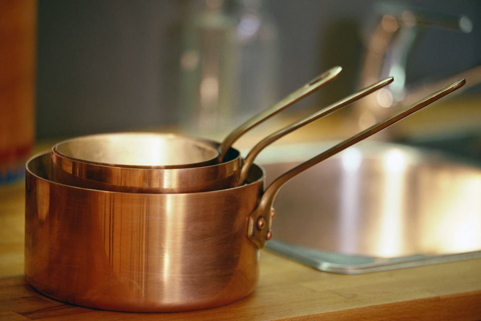copper cookware after removing lacquer