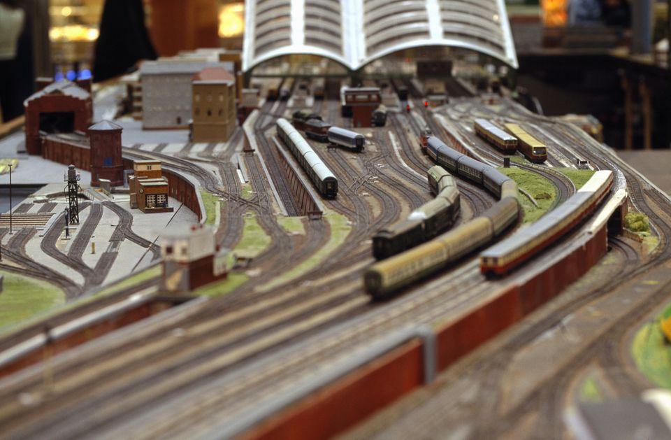 Model train railroad