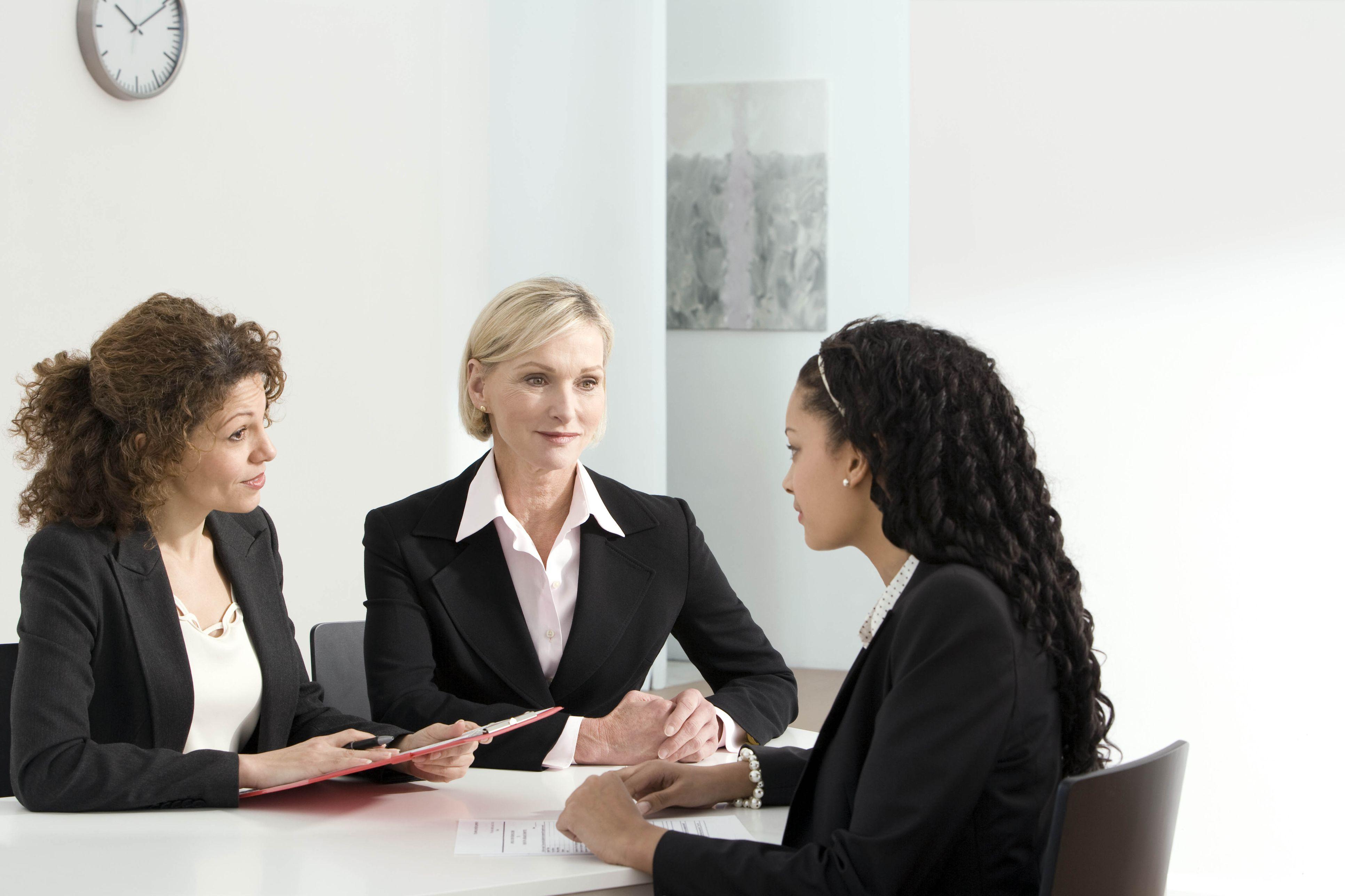 teenager job interview