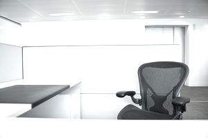 empty chair in cubicle