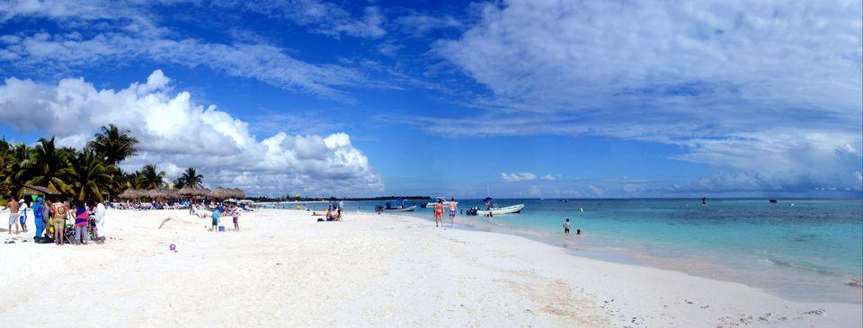 Xpu Ha beach Riviera Maya Mexico .
