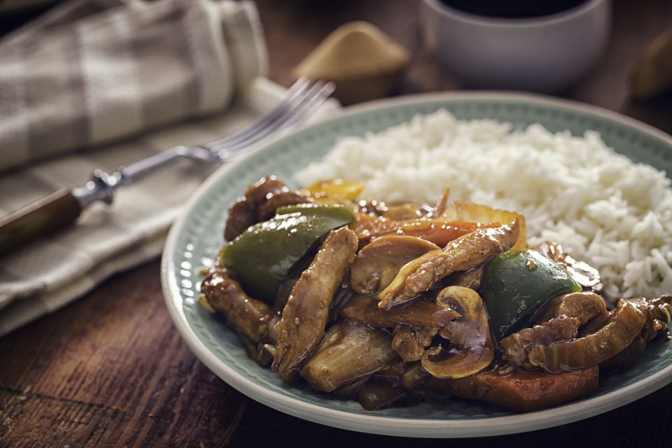 Spicy Kung Pao Chicken with Rice