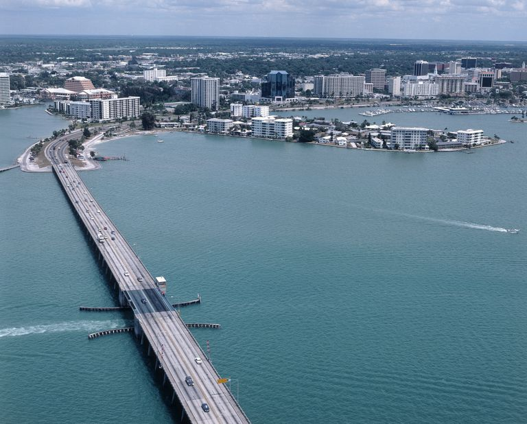 Aerial view of Sarasota, Florida