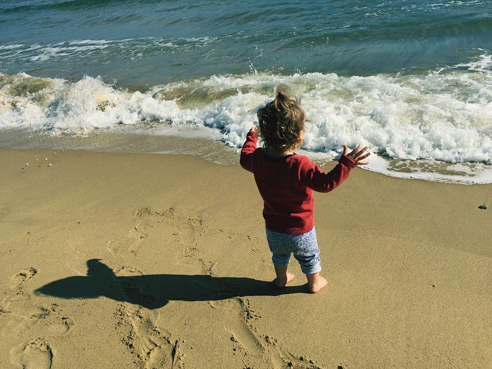 Seaside toddler