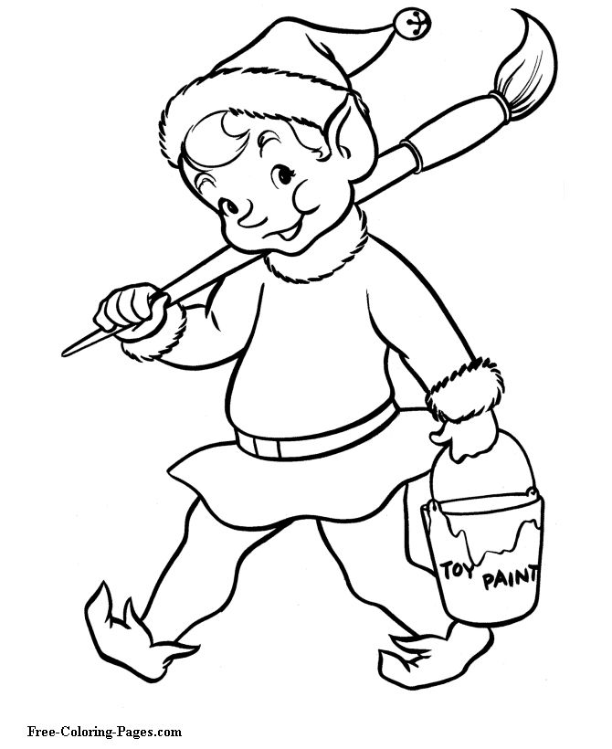 An Elf Carrying A Paint Brush