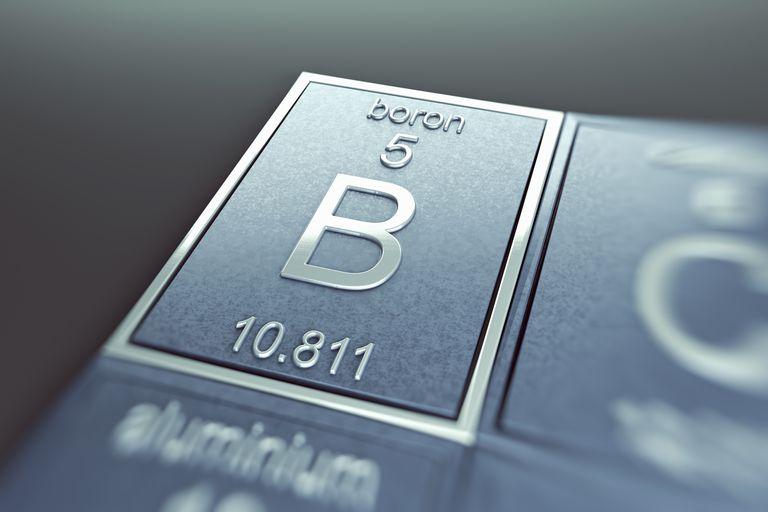 Element atomic number 5 is boron. Boron is a lustrous, black semimetal.