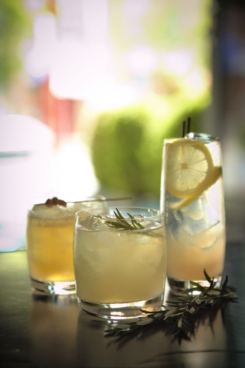 Citrus and herb infused cocktails
