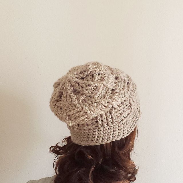 Basketweave Winter Hat Free Crochet Pattern