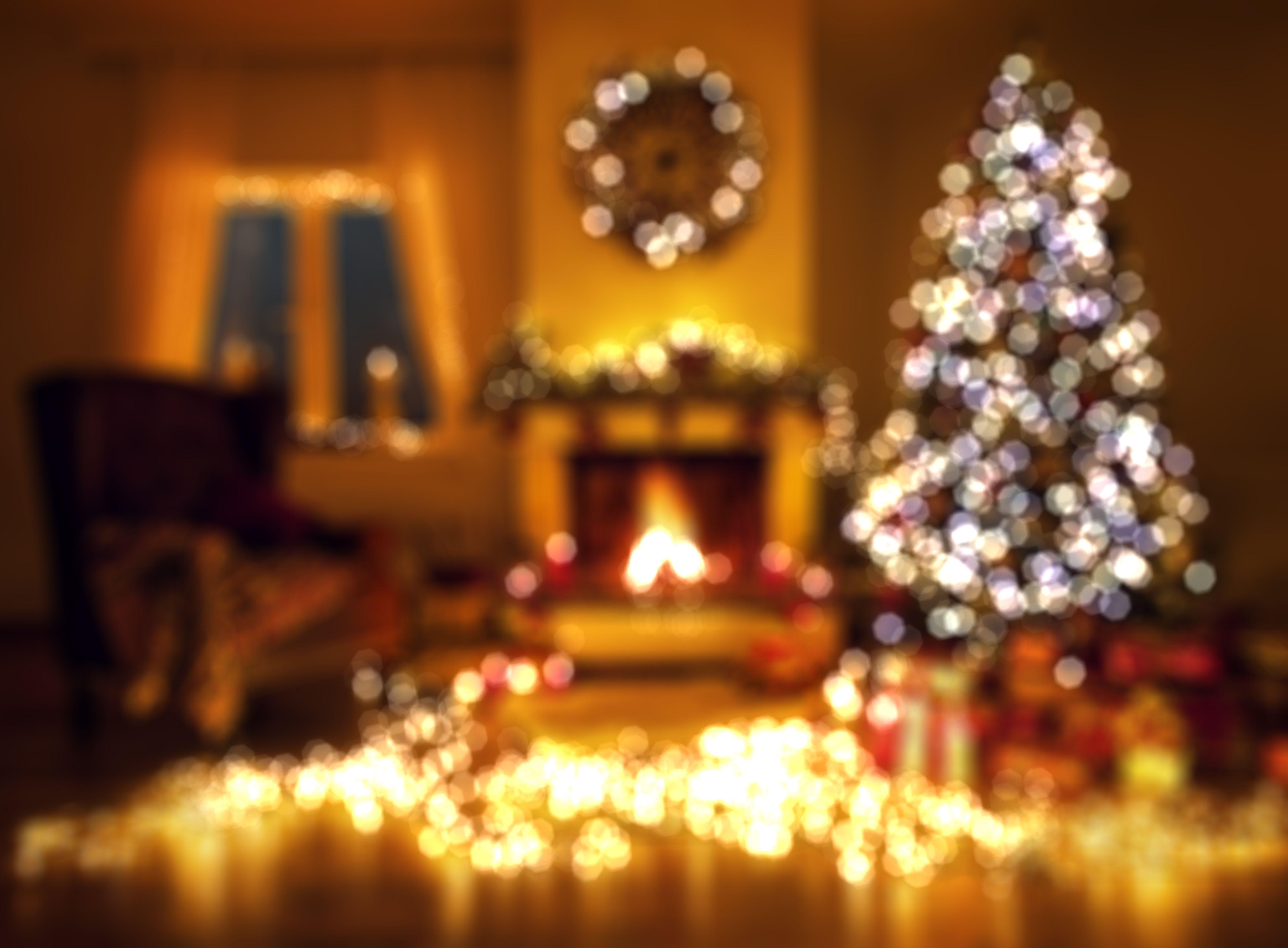defocused image of illuminated christmas lights - German Christmas Tree
