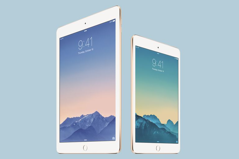 The iPad Air 2 and the iPad Mini 3