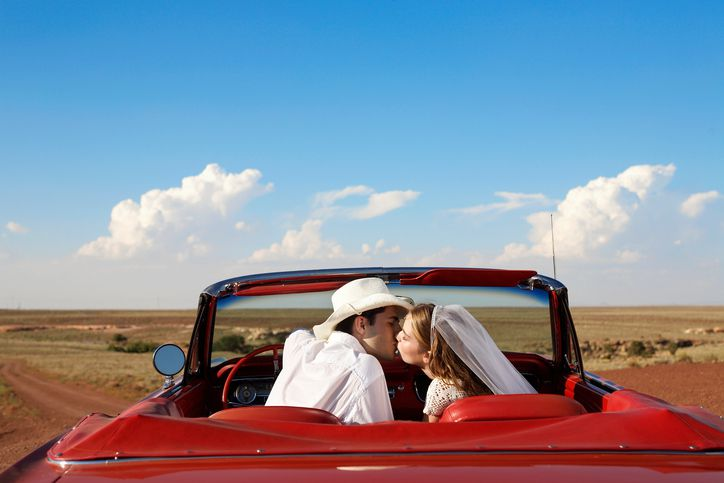 Destination wedding in the desert