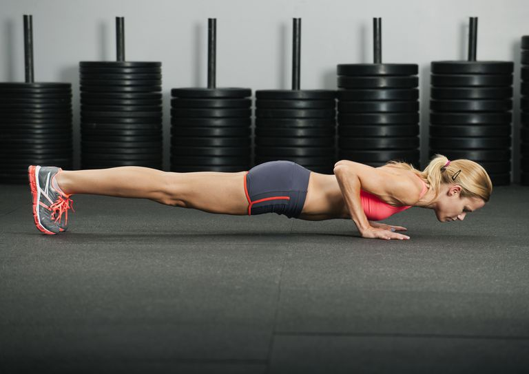 Woman Doing a Pushup