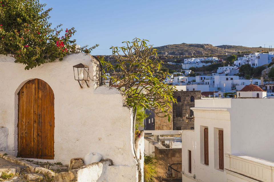 Greece, Rhodes, Lindos, White houses