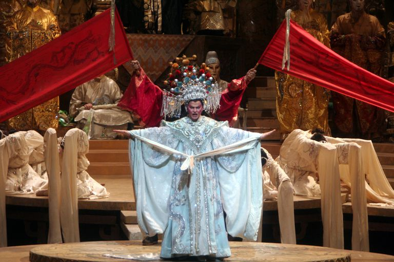 """The Swedish soprano Erika Sunnegardh as the title character in Puccini's 'Turandot' at the Metropolitan Opera House on Saturday night, April 21, 2007. Within the opera's 3rd act, you'll hear one of the most famous arias of all time, """"Nessun Dorma."""""""