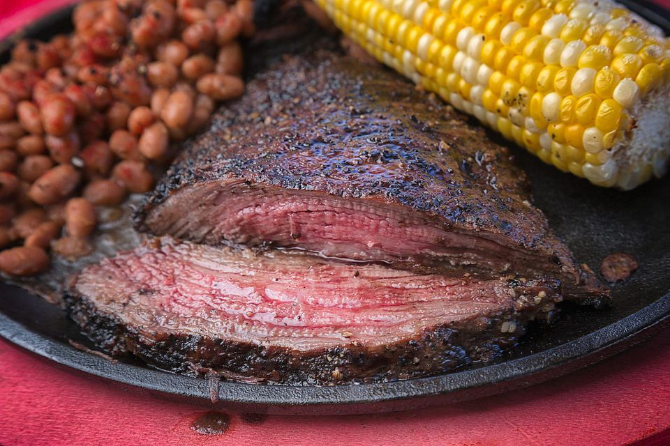 Flank Steak on a Sizzling Plate