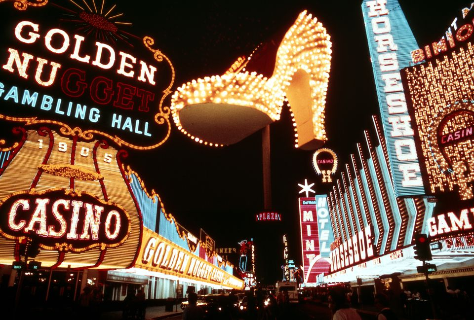 1970s MONTAGE OF NEON...