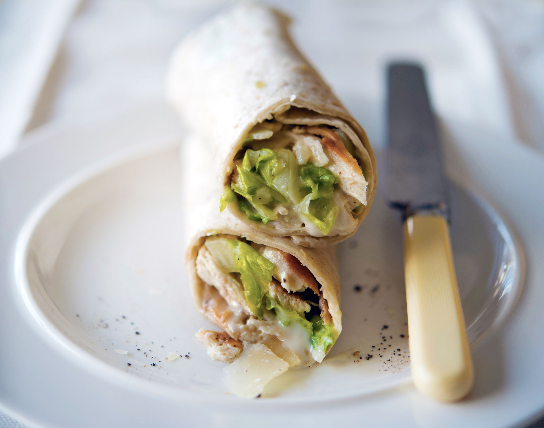Classic Grilled Chicken Caesar Salad Wraps