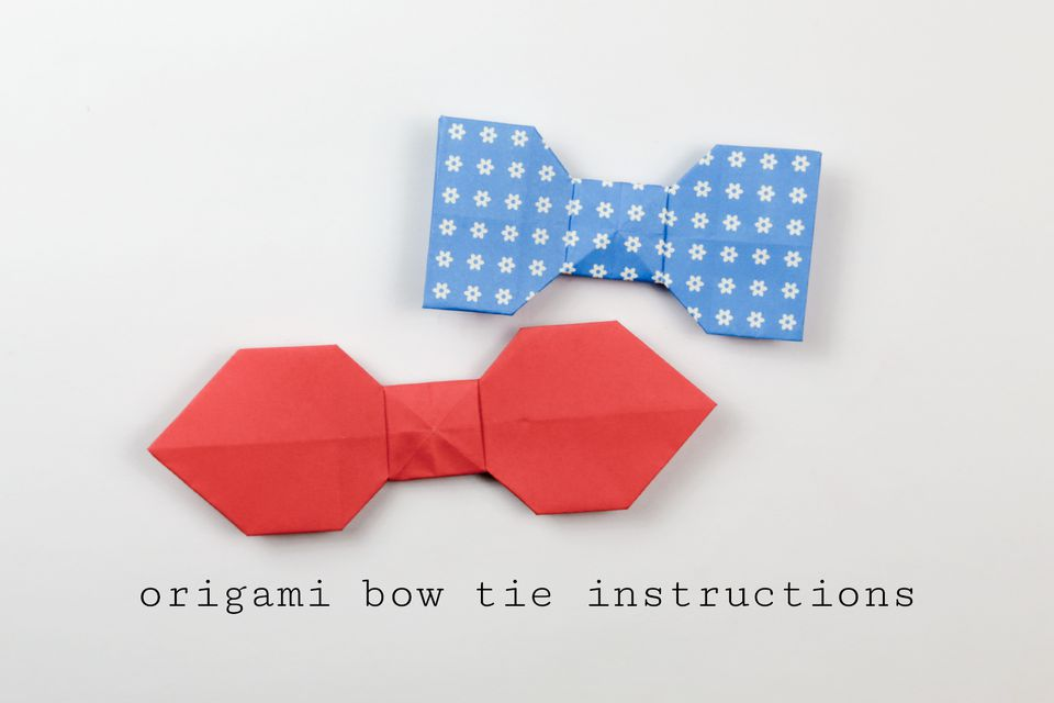 easy origami bow tie tutorial