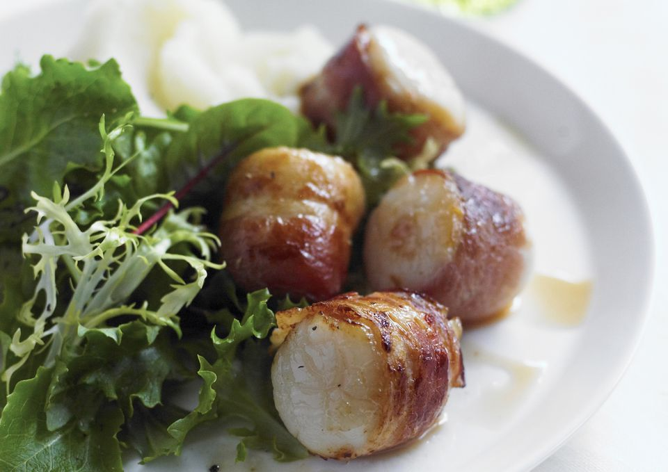 Bacon Wrapped Scallops Appetizer