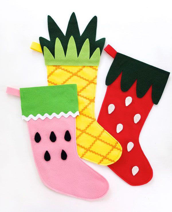 DIY Fruit Stockings