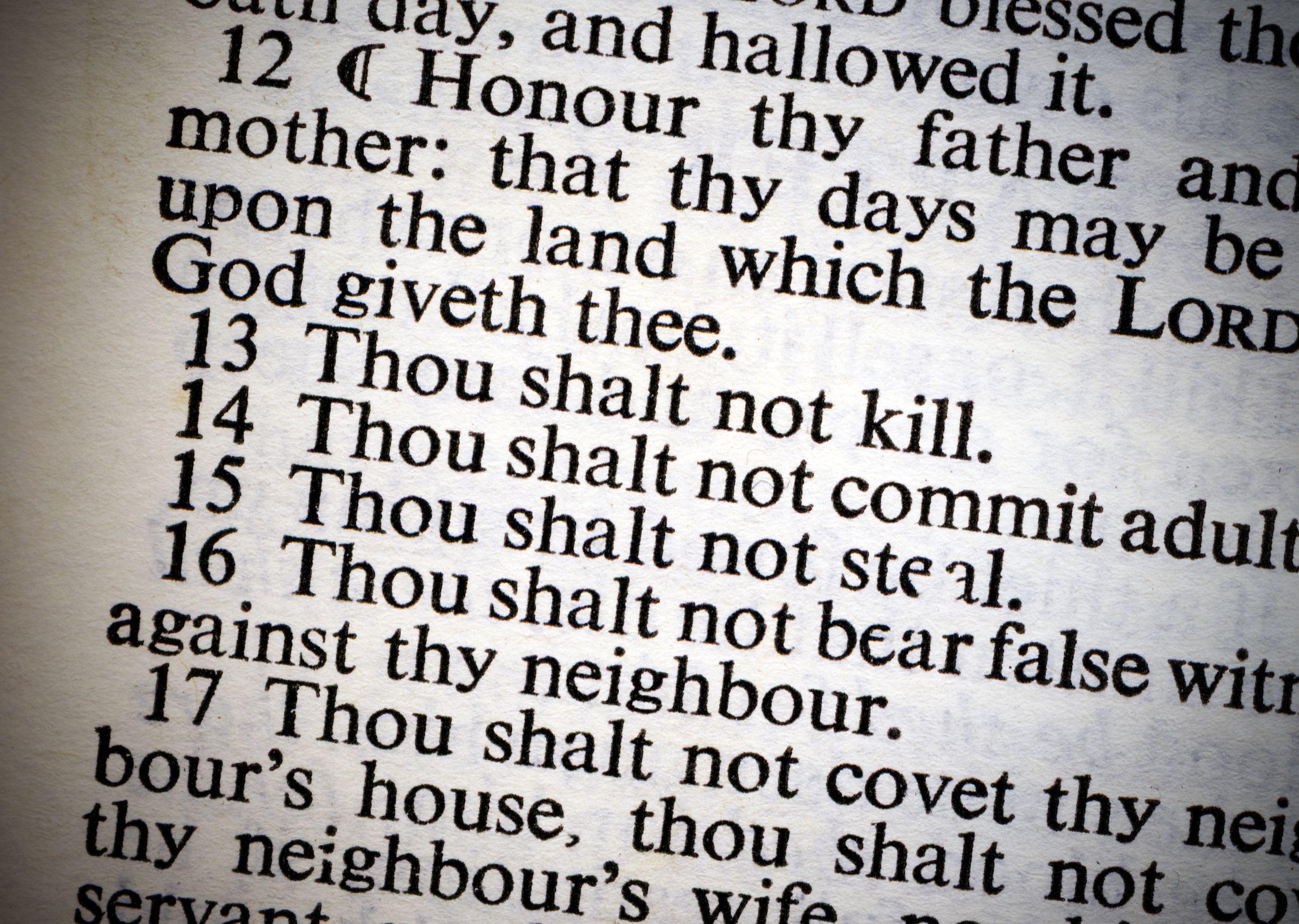 Ten Commandments: Basis for American Law?